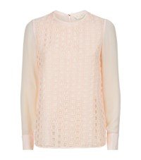 Ted Baker Soreyaa Embroidered Top Female Light Pink
