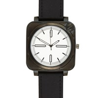 River Island Mens Black Square Face Watch