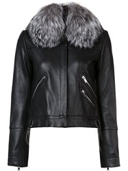 Derek Lam 10 Crosby Multi Zip Jacket Black