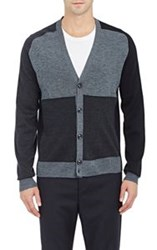 Marc By Marc Jacobs Colorblocked Cardigan Grey