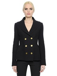 Alexander Mcqueen Double Wool And Cashmere Knit Jacket