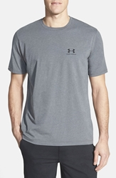 Under Armour 'Sportstyle' Charged Cotton Logo T Shirt Carbon Heather Black