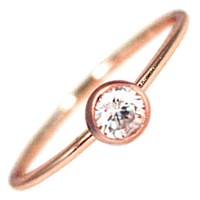 Hysteric Co. Single Bezel Ring Rose Gold