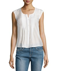 Frame Denim Le Victorian Button Front Top Blanc Women's Size S