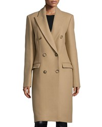 Michael Kors Double Breasted Long Coat Fawn