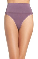 Yummie Tummie Women's By Heather Thomson 'Jasmine' Shaping Thong Vintage Violet