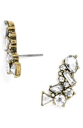Women's Baublebar Crystal Triangle Ear Crawlers