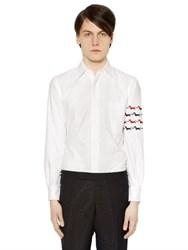 Thom Browne Dogs Arm Embroidery Oxford Cotton Shirt