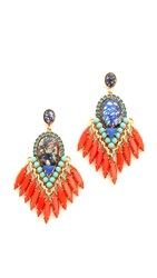 Elizabeth Cole Jessica Earrings Tangerine