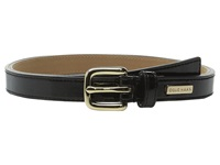 25Mm Patent Belt With Cole Haan Logo Plaque Under Tab Black Women's Belts