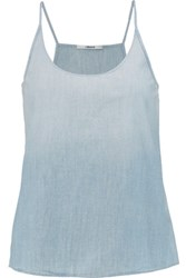 J Brand Hope Cotton Chambray Camisole Sky Blue