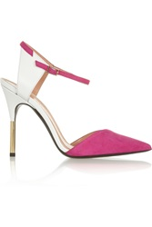 Roland Mouret Leather And Suede Pumps Pink