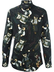Dolce And Gabbana Cowboy Patch Shirt Multicolour