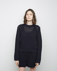 3.1 Phillip Lim Open Knit Pullover Midnight