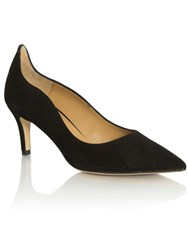 Daniel Manzano Low Heel Court Shoes Black