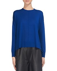 Whistles Split Back Sweater Blue