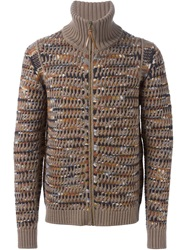 Missoni Marled Knit Cardigan Nude And Neutrals