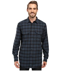 Filson Extra Long Alaskan Guide Shirt Midnight Black Men's Long Sleeve Button Up