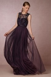 Anthropologie Mariel Wedding Guest Dress Dark Purple