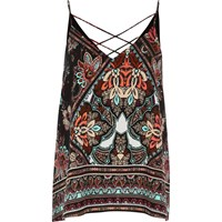 River Island Womens Black Print Strappy Cami