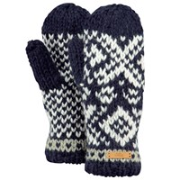 Barts Log Cabin Mittens One Size Navy