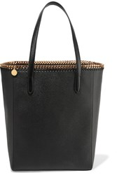 Stella Mccartney The Falabella Faux Textured Leather Tote Black