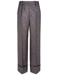 Racil Silver Brocade Leo Cropped Trousers