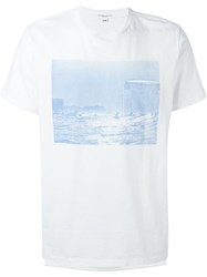 Engineered Garments Waiting Surf Print T Shirt White