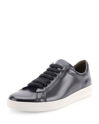 Tom Ford Russel Calf Leather Low Top Sneaker Navy