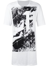 11 By Boris Bidjan Saberi Graphic Logo Print T Shirt White