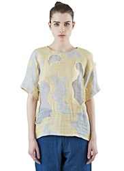 The Autonomous Collections Boxy Patchwork T Shirt Yellow