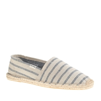 Soludos For J.Crew Espadrilles Rustic Chambray Stripe