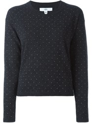 Allude Embellished Sweater Grey