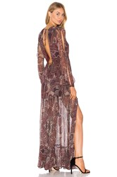 The Jetset Diaries Labyrinth Paisley Maxi Dress Burgundy