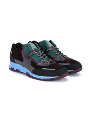 Lanvin Leather Running Sneakers Purple Multi Coloured Green Blue Burgundy Den