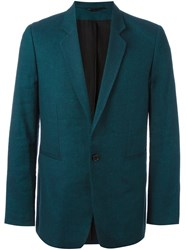 Ann Demeulemeester Fitted Dinner Jacket Blue
