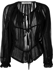 Etro Sheer Cardigan Black