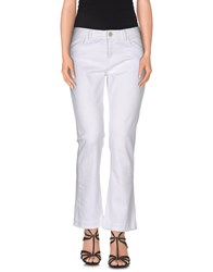 Jucca Denim Denim Trousers Women White