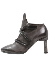 A.S.98 Paola High Heeled Ankle Boots Smoke Nero Grey