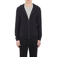 Theory Bisley Zip Front Sweater Blue