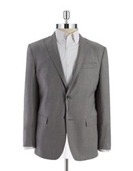 Michael Kors Two Button Checkered Blazer Grey