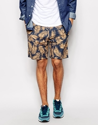 Penfield Shorts With Palm Print Tan