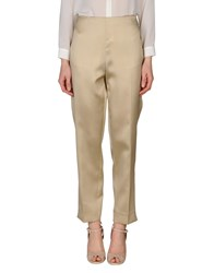 Clips Trousers Casual Trousers Women Beige