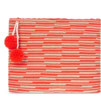 Sophie Anderson Lia Cotton Woven Pouch Red