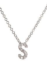 Bony Levy Women's Pave Diamond Initial Pendant Necklace Nordstrom Exclusive White Gold S