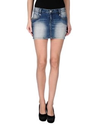 Gaudi' Denim Skirts Blue