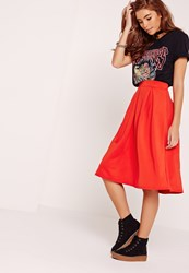 Missguided Full Midi Skirt Red Red