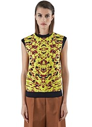 Marni Sleeveless Jacquard Knit Sweater Yellow