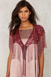 Adeline Beaded Shawl Red