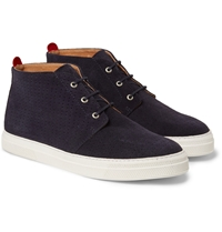 Oliver Spencer Beat Perforated Suede Chukka Sneakers